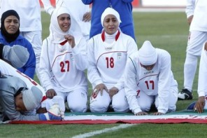 Women soccer iran crying