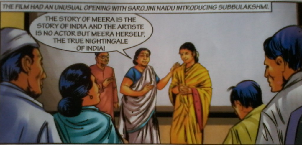 From the Amar Chitra Katha on MS Subhalakshmi's life