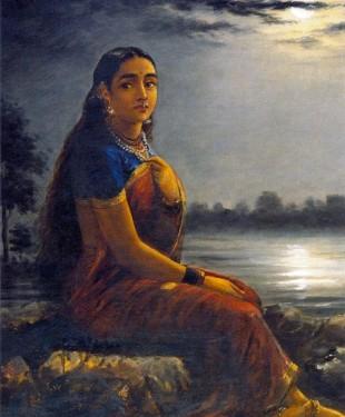 Raja_Ravi_Varma,_Lady_in_the_Moon_Light_(1889)