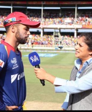 Lisa Sthalekar during the IPL. Photo courtesy Lisa Sthalekar Facebook page.