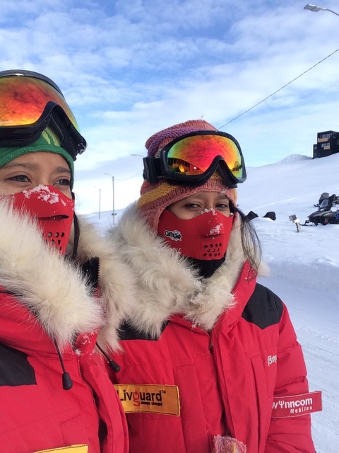 Tashi and Nungshi Malik at the North Pole in April 2015.
