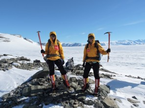 Tashi and Nungshi on Mt Vinson, Antarctica in December 2014. (1)