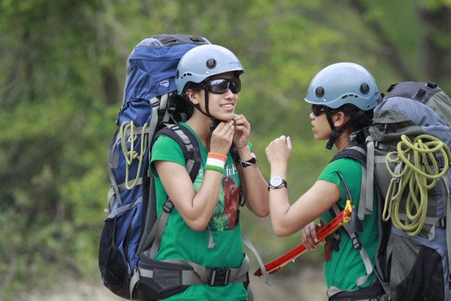 Tashi and Nungshi training in the lower Himalayas below Mussoorie in preparation for their climb in Antarctica. (1)