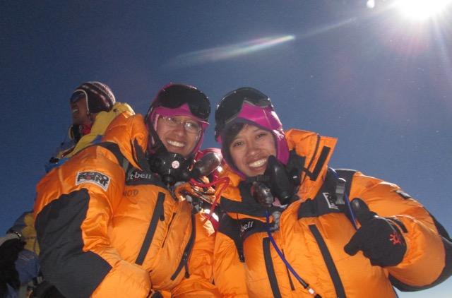 The twins on Mt Everest in May 2013. (1)