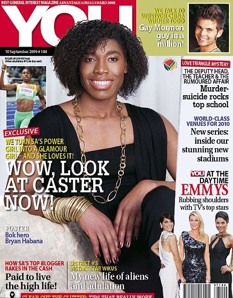 YOU magazine cover featuring athlete Caster Serenya.