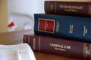 Picture of law textbooks.