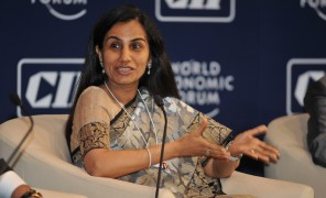 Picture of Chanda Kochhar seated.