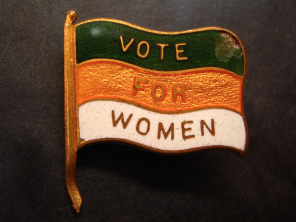 "Flag with the words ""Vote for Women"""