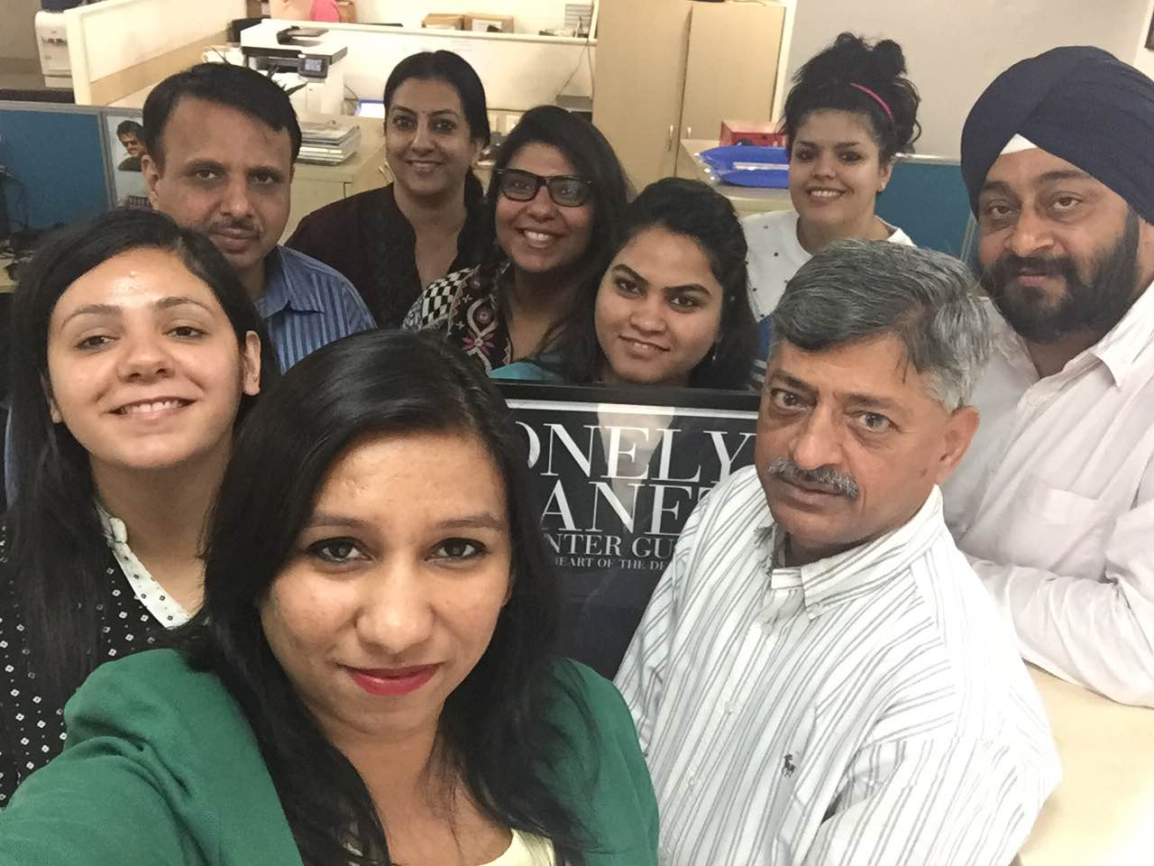Selfie of Employees in an Office