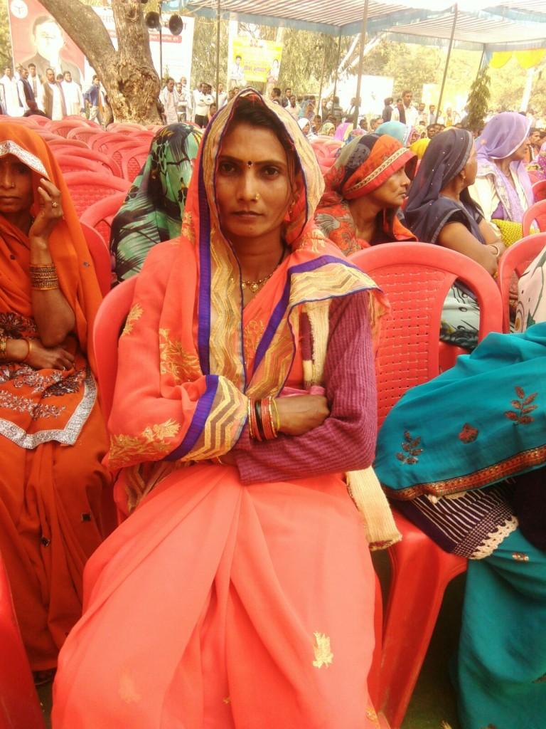 Shailkumari, a two-time pradhan from Barsada Bujurg panchayat, Banda, UP. Photo by Khabar Lahariya.