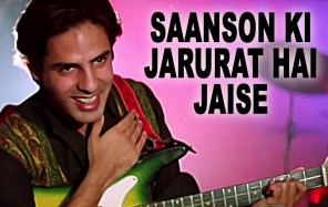 "Bollywood actor with guitar singing ""Saanson ki Zaroorat Hai Jaise"""