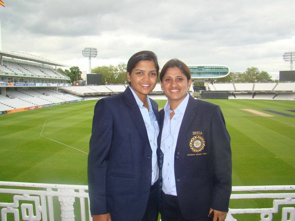 Veda and Reema at Lord's cricket ground