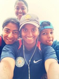 veda with karnataka state teammates