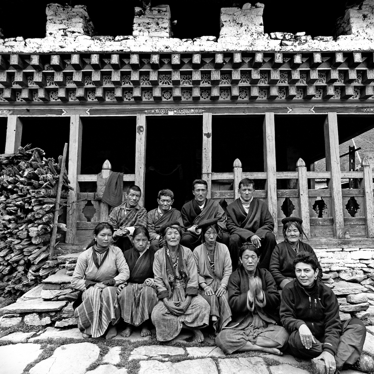 outside-the-gengo-village-lhakhang-with-the-local-women_-serena-chopra-is-up-front-to-the-right