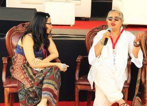 Authors Samhita Arni and Arshia Sattar. Photo Courtesy Twitter