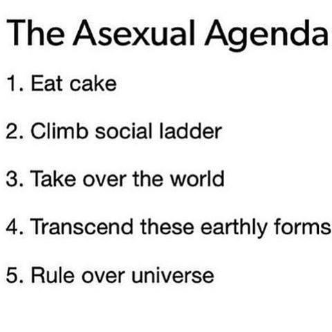 asexual agendacake