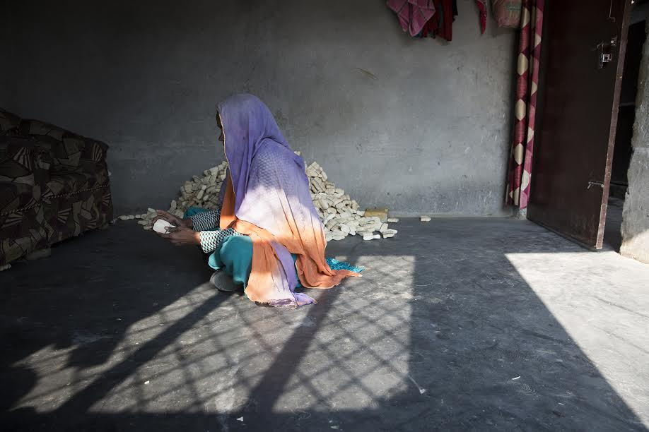 """A mother can stay hungry, but you can't make your kids suffer,"" says Aarzoo. She earns Rs 3000 a month at a factory that manufactures wooden spoons. She would like to pursue her case but repeated court trips mean travel money and loss of daily wages. She lives with no assurances of justice coming her way."